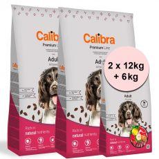 Calibra Dog Premium Line Adult Beef 2 x 12 kg + 6 kg NEW