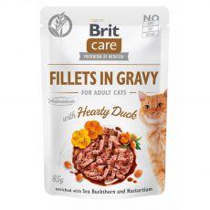 Brit Care Cat Fillets in Gravy Hearty Duck 85 g