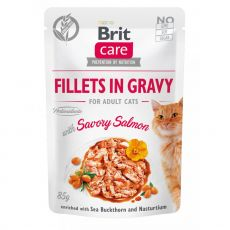 Brit Care Cat Fillets in Gravy Savory Salmon 85 g
