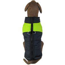 Vetrovka pre veľké psy čierno - zelená L-XL