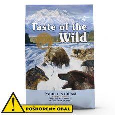 TASTE OF THE WILD Pacific Stream Canine 12,2 kg - POŠKODENÝ OBAL