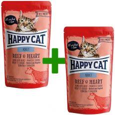 Kapsička Happy Cat ALL MEAT Adult Beef & Heart 85 g 1+1 ZADARMO