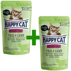Kapsička Happy Cat ALL MEAT Adult Sterilised Veal & Lamb 85 g 1+1 ZADARMO