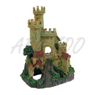 Dekorácia hradba opevneného zámku