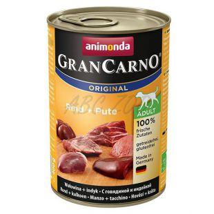 Konzerva GranCarno Fleisch Adult hovädzie + morka - 400 g