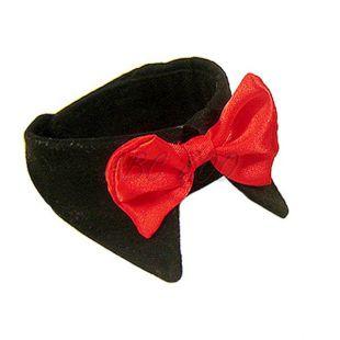 Motýlik pre psa - červený s golierom, XL