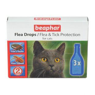 Kvapky proti blchám a klieštom pre mačky - 3ks