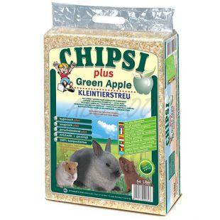 CHIPSI PLUS GREEN APPLE hobliny pre hlodavce Jablko - 60 L