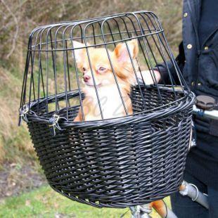 Prenosný kôš na bicykel s mriežkou pre psíka 49,5 x 35 x 26 cm