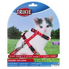 Postroj s vodítkom pre mačiatko Kitty Cat, červený