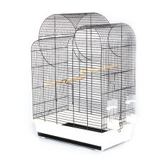 Klietka pre papagaje ELIZA - čierna - 54 x 34 x 75 cm