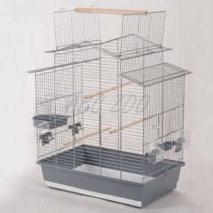 Klietka pre papagaje IZA III - čierna - 58,5 x 38 x 65 cm