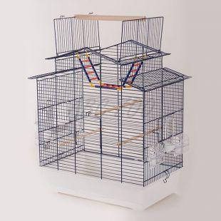 Klietka pre papagaje IZA III - KOBALT - 58,5 x 38,5 x 65 cm
