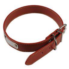 Kožený obojok pre psa - hnedý, 45 cm