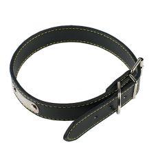 Kožený obojok pre psa - čierny, 40 cm