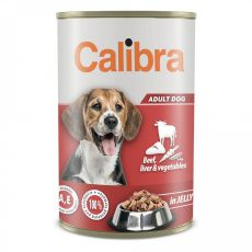 Konzerva Calibra Dog Adult hovädzie a pečeň 1240 g