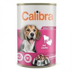 Konzerva Calibra Dog Adult teľa a morka 1240 g