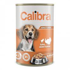 Konzerva Calibra Dog Adult morka a kura 1240 g