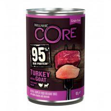 Wellness CORE Dog 95% morka & koza 400 g