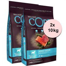 Wellness Core Dog M/L Adult Ocean Salmon & Tuna 2 x 10 kg