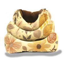 Pelech pre psa, jesenný kvetinový vzor - L