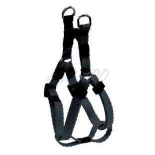 Postroj pre psy, nylonový - čierny, 20 - 35 cm