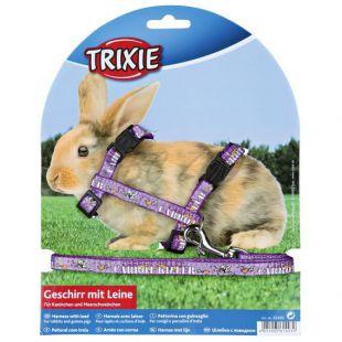 Postroj s vodítkom pre zajace - fialový