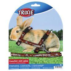 Postroj s vodítkom pre zajace - hnedý