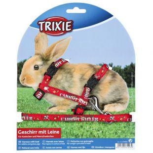 Postroj s vodítkom pre zajace - červený