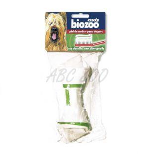 Žuvacia kosť pre psa - bravčová koža, 17 cm