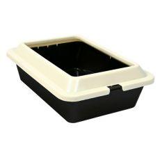 Toaleta pre mačky - hnedobéžová, 50 × 38 × 14 cm