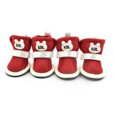 Topánky pre psov, sieťkované červenej farby - veľ.2