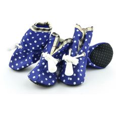 Topánky pre psov, modré bodkované - veľ.2