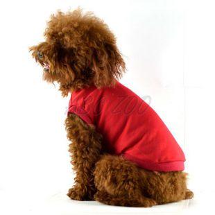 Tričko pre psa s krátkym rukávom - červené, XXL
