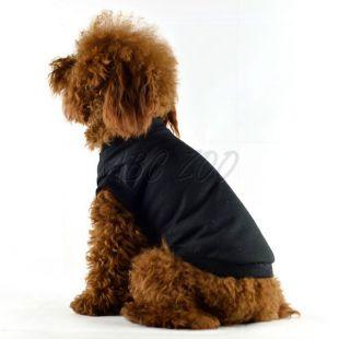 Tričko pre psa s krátkym rukávom - čierne, XL