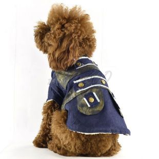 Bunda pre psa - riflová zateplená, XL