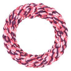 Bavlnený kruh pre psov, ružový - 14 cm