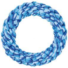 Bavlnený kruh pre psov, modrý - 14 cm
