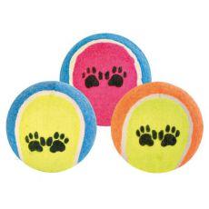 Tenisová lopta pre psov - farebná, 6 cm