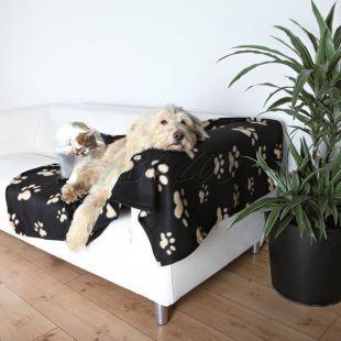 Deka pre psov a mačky - béžová labka, 150 x 100 cm