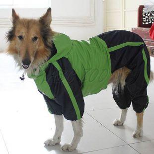 Overal pre psa - zelenočierny, L-M