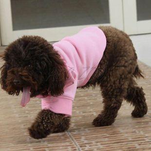 Mikina pre psa so zipsom - ružová, L