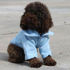 Mikina pre psa so zipsom - modrá, M