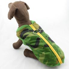 Bunda pre veľkého psa - elastický maskáč, L-M