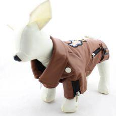 Koženka pre psov - hnedá s orlom, XXL