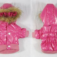 Vetrovka pre psa - ružová s kapucňou, XL