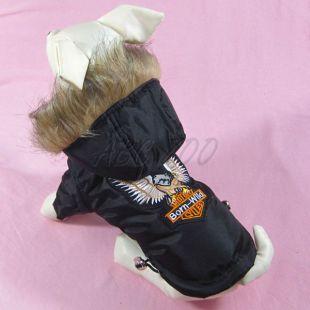 Vetrovka pre psa - čierna s orlom, XL
