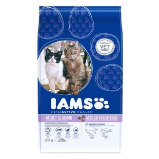 IAMS Multi-Cat s kuracím a lososím mäsom 3kg