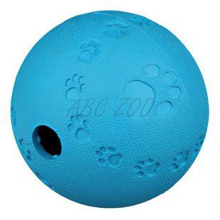 Lopta na pamlsky pre psy - prírodná guma, 7 cm