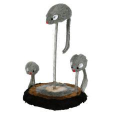 Hračka pre mačky - myši na pružine, 15x22cm